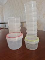 Отдается в дар Пластиковые плошки. Круглые