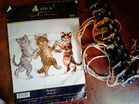 Отдается в дар Вышивка «кошачье трио»