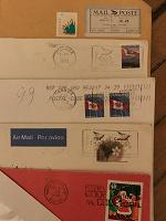Отдается в дар Почтовые конверты иностранные и марки с конвертов.