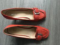 Отдается в дар Красные кожаные туфли 40 размера
