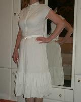 Отдается в дар Белое платье S (44), винтаж