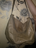 Отдается в дар Кожаная сумка Sisley
