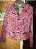 Отдается в дар Вельветовый розовый костюм 46
