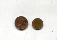 Отдается в дар 1/2 и 1 пенни Великобритания