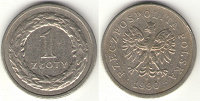 Отдается в дар Польский злотый (монета) нумизмату
