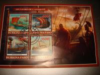 Отдается в дар Марочный лист (марка) «Древние военные корабли»