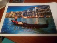 Отдается в дар Посткроссинг — открытка с видом Венеции
