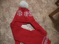 Отдается в дар Шапка-шарф для девочки 4-6 лет