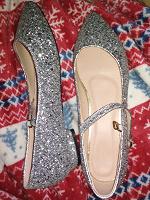 Отдается в дар Новые туфли для танцев 40.5 (26.5) низкий каблук