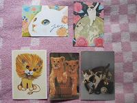 Отдается в дар Открытки с кошачьими :))