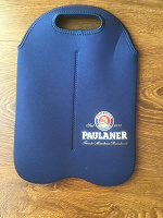 Отдается в дар Paulaner сумка для 2-х бутылок пива.