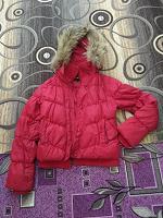 Отдается в дар Пуховик (куртка) красный