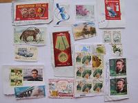 Отдается в дар Марки почтовые художественные с конвертов