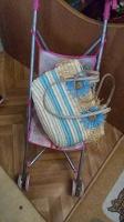 Отдается в дар Детская сумка, коляска кукольная и домик