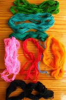 Отдается в дар Мулине советские нитки для вышивания
