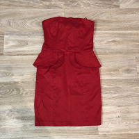 Отдается в дар Платье коктейльное красное XS