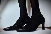 Отдается в дар Туфли чёрные на каблуках 41р.