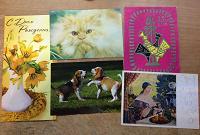 Отдается в дар Открытки не в идеальном состоянии и половинки открыток