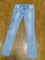 Отдается в дар Джинсы голубые летние женские 44 размер