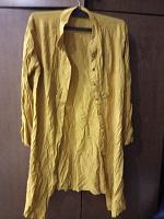 Отдается в дар Платье — рубашка 44 р горчичное BUSRA