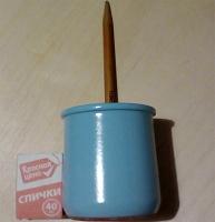 Отдается в дар Стакан керамический голубой новый 2 шт.
