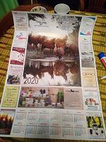 Отдается в дар Настенный календарь 2020