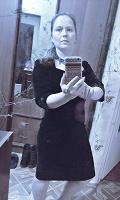 Отдается в дар Платье из черного бархата, классика, размер 46-48
