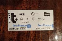 Отдается в дар Билет метро Парижа