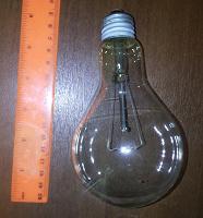 Отдается в дар Лампа накаливания 220 вольт, 200 ватт.