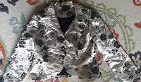 Отдается в дар Жакет парча серебро 48 размер