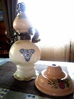 Отдается в дар Светильник потолочный стекло/керамика