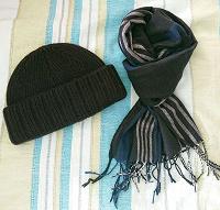 Отдается в дар Джинсовка на подростка, шапка и шарф мужские
