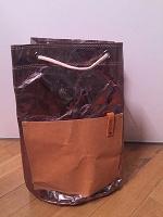 Отдается в дар Рюкзак-торба серебристый новый