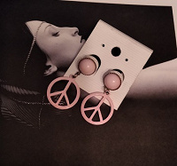 Отдается в дар Нежно-розовые серьги-гвоздики