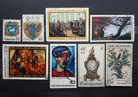Отдается в дар Искусство на почтовых марках 5 стран.