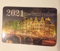 Отдается в дар Карманный календарик 2021