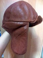 Отдается в дар Женская кожаная шапка-ушанка