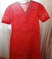 Отдается в дар Платье винтаж Ретро Красное СССР