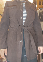 Отдается в дар Пиджак-рубашка с поясом коричневый