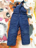 Отдается в дар Зимние непромокаемые тёплые штаны на рост 104-110 см