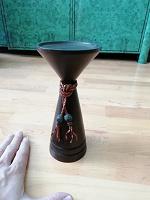 Отдается в дар Подсвечник из темного дерева, интерьер. Индонезия