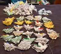 Отдается в дар Гирлянды из журавликов оригами