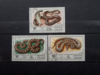 Отдается в дар Фауна СССР, змеи. Марки 1977 г.