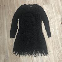 Отдается в дар Платье чёрное D&G M с перьями