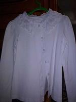 Отдается в дар Белая блузочка с кружевным воротничком