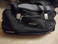 Отдается в дар Дорожная сумка на колёсах с выдвижной ручкой