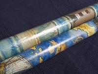 Отдается в дар Бумага для подарков «морская»