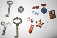 Отдается в дар Значки, ключи