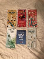 Отдается в дар Карты городов Италии и парка Зарядье в мск