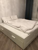 Отдается в дар Кровать двухместная ikea 180х200